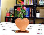 Маленька дерев'яна яна ваза «Любляче серце»: найкращий подарунок для коханої людини, фото 8