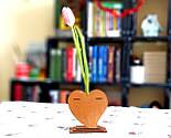 Маленька дерев'яна яна ваза «Любляче серце»: найкращий подарунок для коханої людини, фото 9