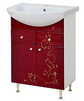 Тумба в ванную  Бордо с золотом