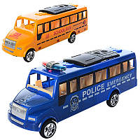 Автобус игрушечный 678-91-92, инер-й, 2вида, в кульке, 28-10-8см