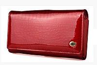 Кошелек кожаный женский лаковый красный ST S9001A Red, фото 1