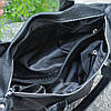Кожаная женская сумка Барселона черная, фото 2