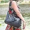 Кожаная женская сумка Барселона черная, фото 3