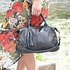 Кожаная женская сумка Барселона черная, фото 4
