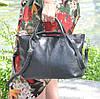 Кожаная женская сумка Валенсия черная, фото 2