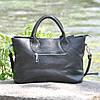 Кожаная женская сумка Валенсия черная, фото 3