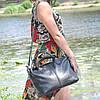 Кожаная женская сумка Валенсия черная, фото 5