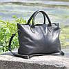 Кожаная женская сумка Валенсия черная, фото 6