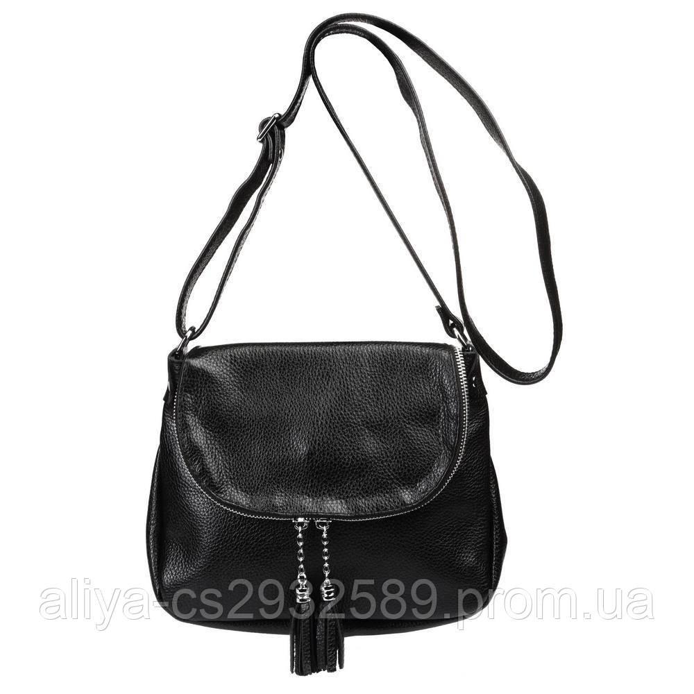 Кожаная женская сумка Марсель черная