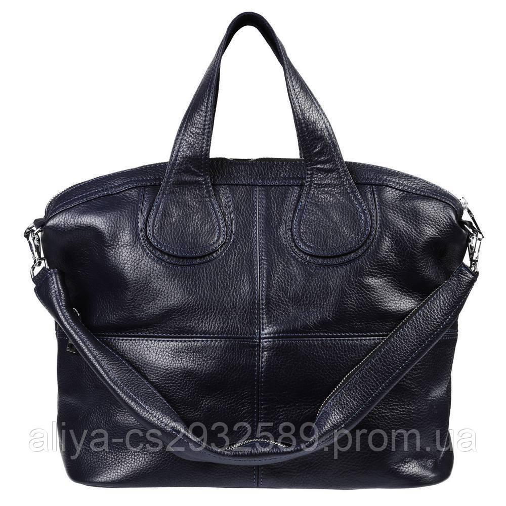 Кожаная женская сумка Nightinghale темно-синяя