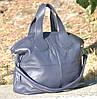 Кожаная женская сумка Nightinghale темно-синяя, фото 2