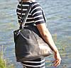 Кожаная женская сумка Nightinghale темно-синяя, фото 5