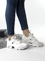 Кроссовки Reebok Insta Pump Triple White Полностью белые