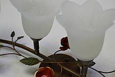 Люстра, 4 лампы,  поворотные плафоны, фото 3