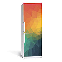 Наклейка виниловая на холодильник Абстракция двухслойная (полноцветная печать, декор холодильника)