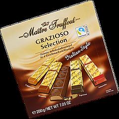 Шоколад Maître Truffout Grazioso Italian style ассорти 200 г (1уп/25шт) / Австрия /