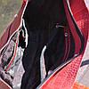 Кожаная женская сумка Флоренция крокодиловая красная, фото 2