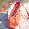 Кожаная женская сумка Флоренция крокодиловая красная, фото 3