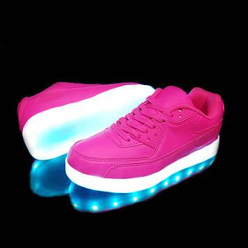 Кроссовки светящиеся женские Pink TX02