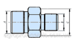 Штуцер соединительный S27-S22 (М22х1.5-М18х1.5) гидросоединения, фото 2
