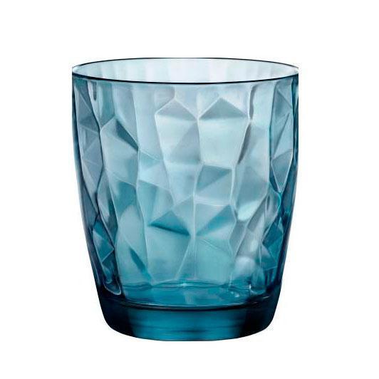"Стакан низкий Bormioli Rocco серия ""Diamond"" OCEAN BLUE 350220M02321990 (1 шт / 305 мл)"