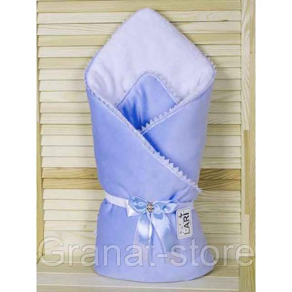 """Конверт-одеяло на выписку """"Чудо"""". Голубой"""