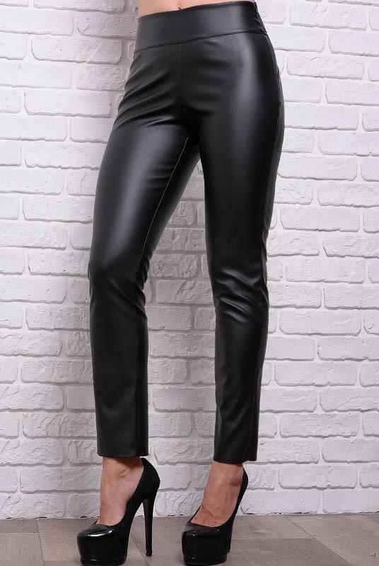 Кожаные брюки моделирующие фигуру Лиора