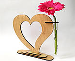 Ваза «Любляче серце»: вишуканий декор і ідеальний подарунок для коханої людини, фото 5