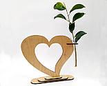 Ваза «Любляче серце»: вишуканий декор і ідеальний подарунок для коханої людини, фото 7