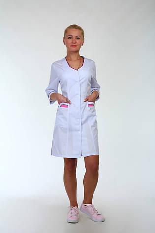 Женский медицинский халат большого размера 3137  ( коттон 62-66 р-р), фото 2