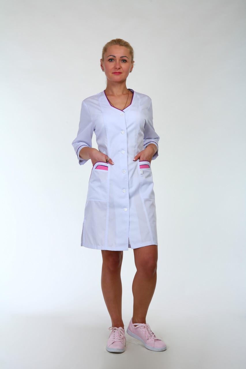 Женский медицинский халат большого размера 3137  ( коттон 62-66 р-р)