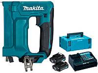 Аккумуляторный степлер Makita ST113DWAJ + 2 акб 10.8 V 2 Ah + з/у + MakPac