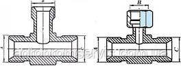 Штуцер тройник S17 с гайкой (М14х1.5-Гайка М14х1.5-М14х1.5)