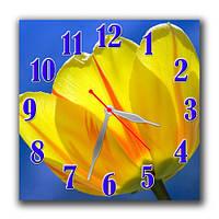 Часы настенные Желтый тюльпан