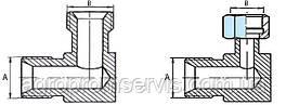 Штуцера угловые гидравлики  S17 с гайкой (М14х1.5-М14х1.5)
