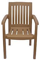 Кресло пластиковое Базилик Бежевый