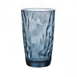 "Стакан высокий Bormioli Rocco ""DIAMOND"" Ocean Blue 350260M02321990 (1 шт / 470мл)"