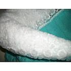 Акция! Конверт-одеяло на выписку вязаный теплый на махре. Бирюза, фото 4