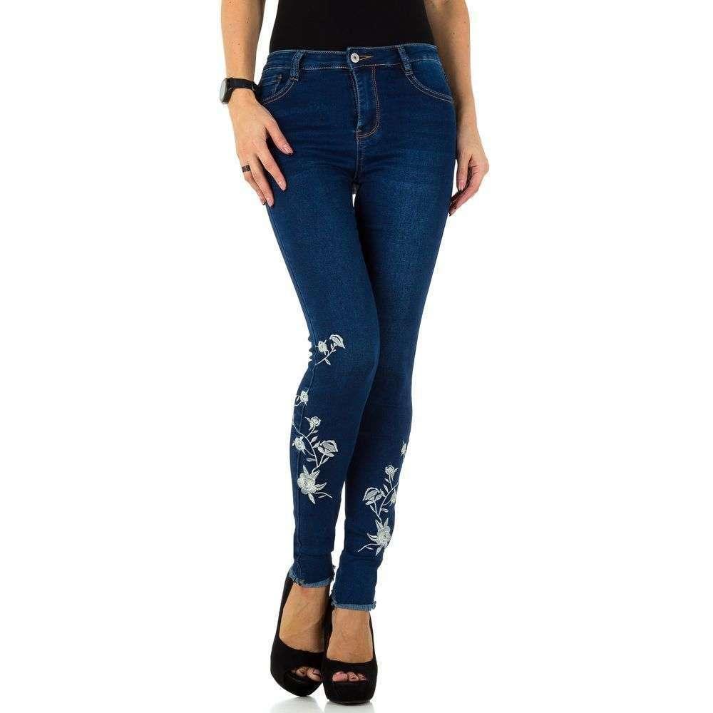 57747b5789e Женские джинсы с вышивкой внизу и необработанным краем Laulia (Германия)