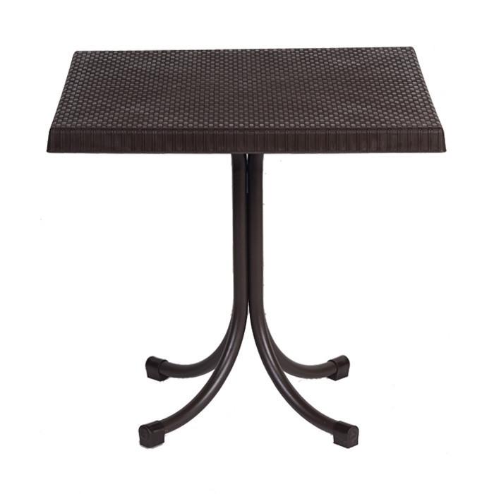 Стол Пальма под ротанг 80x80 см коричневый