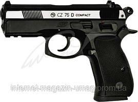 Пистолет пневматический ASG CZ 75D Compact, 4,5 мм, корпус металл