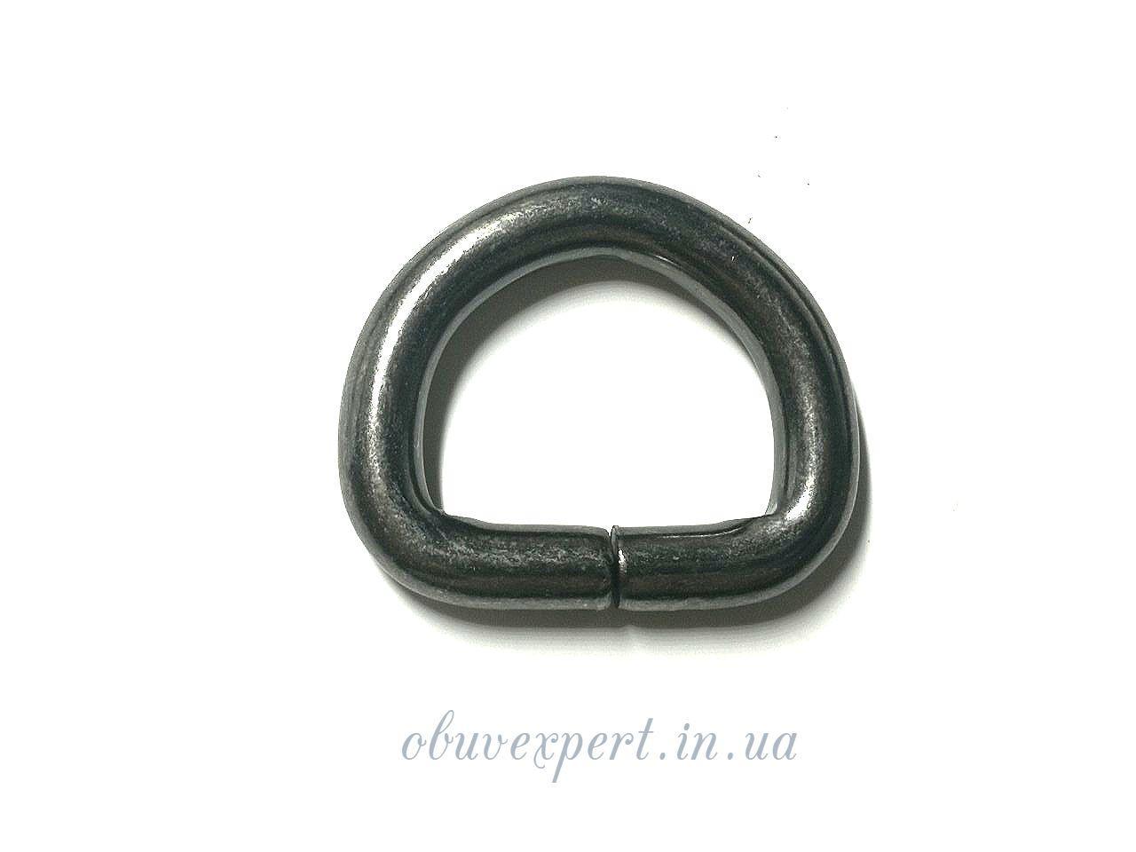 Полукольцо  проволочное 20*15 мм, толщ. 5 мм, Черный никель