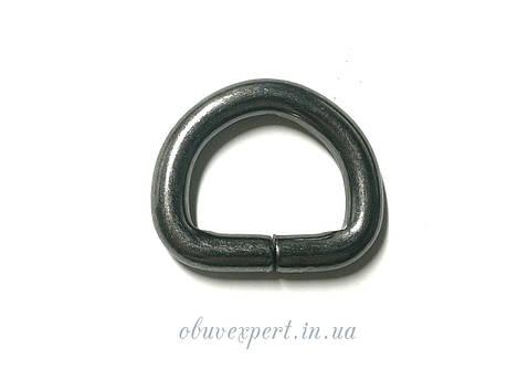 Полукольцо  проволочное 20*15 мм, толщ. 5 мм, Черный никель, фото 2