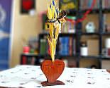 Маленька дерев'яна ваза «Любляче серце»: найкращий подарунок для коханої людини, фото 10