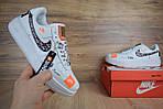 Кроссовки Nike Air Force JD, белые, фото 2