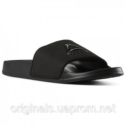 Шлепанцы мужские черного цвета Reebok Fulgere CN6467  , фото 2