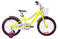 """Велосипед детский 18"""" Formula ALICIA 2019 (желто-фиолетовый)"""
