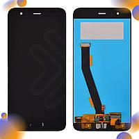 Дисплей Xiaomi Mi6 с тачскрином и датчиком отпечатка, цвет черный, копия высокого качества