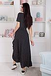 Женский летний легкий сарафан короткий рукав длинный софт размер:42,44,46, фото 6