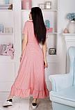 Женский летний легкий сарафан короткий рукав длинный софт размер:42,44,46, фото 7